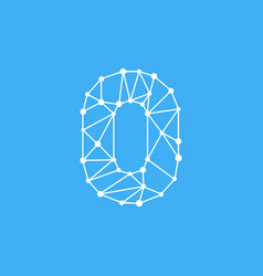 logo number 0 dots lines vector image