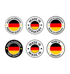 made in germany labels set german product emblem vector image