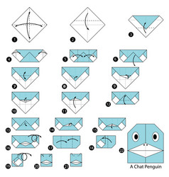 make origami a chat penguin vector image