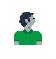 Man side view turned head boy in polo vector