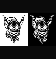 mask samurai vector image