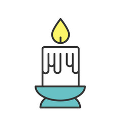 melting candle color icon vector image