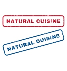 Natural Cuisine Rubber Stamps vector image