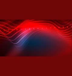neon wave background vector image
