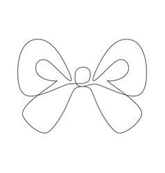 One line continuous ribbon vector