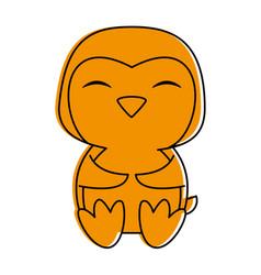 Penguin cute animal cartoon icon image vector