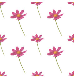pink flower shape seamless pattern backgrounds vector image