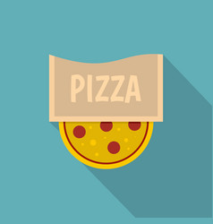Pizza emblem for pizzeria icon flat style vector