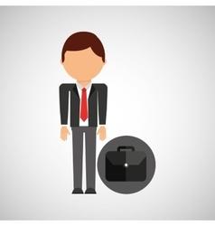 Portfolio business man suit worker icon vector