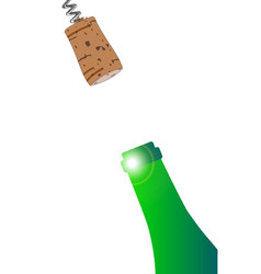 pulling the cork vector image