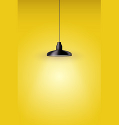 Retro metal stylish pendant ceiling cone lamp vector