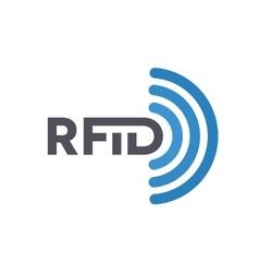 Rfid tag icon or logo radio-frequency vector