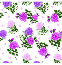 Seamless pattern with roses3-01 vector