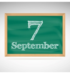 September 7 day calendar school board date vector
