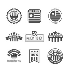 set labels logo badges and signs made vector image