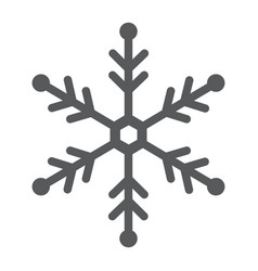 snowflake glyph icon snow and winter frost vector image