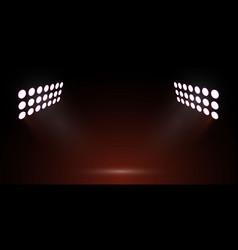Soccer stadium light vector