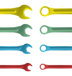 Spanner tools vector image