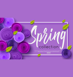 spring fashion banner with handwritten calligraphy vector image