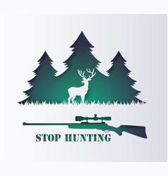 Stop hunting animal vector