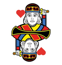 Stylized King of Hearts no card vector
