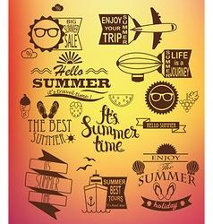 summer holidays design elements vector image