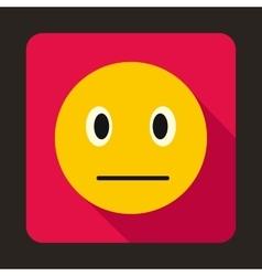 Suspicious emoticon icon flat style vector
