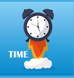 Time clock alarm start launch business vector
