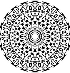 Tribal round ornament with decorative elements vector image
