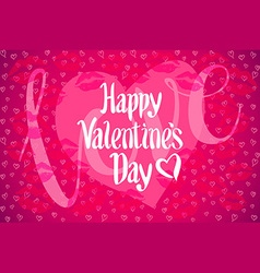Valentines Day poster Typography vector image