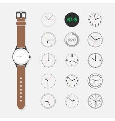 Watch face set vector