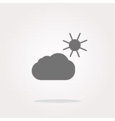 Weather app web icon isolated on white background vector image