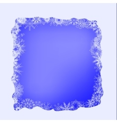 Winter Snow Frame vector image