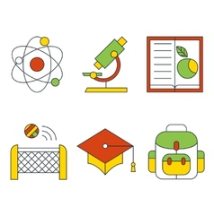 education and science concept Flat design vector image vector image