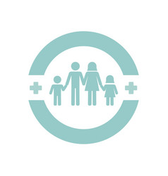 family health care icon vector image