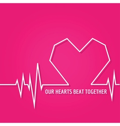 Heart Beat - Love Design for Valentines Day Logo vector image