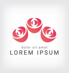 orange rose curve logo design template vector image vector image