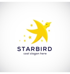 Star Bird Abstract Symbol Icon or Logo vector image vector image