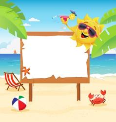 Summer Billboard vector image