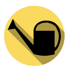 watering sign flat black icon with flat vector image