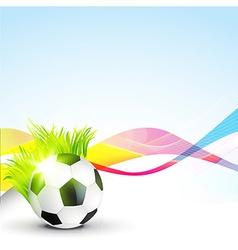 abstract football design vector image