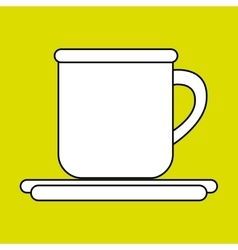 cup plate beverage icon vector image