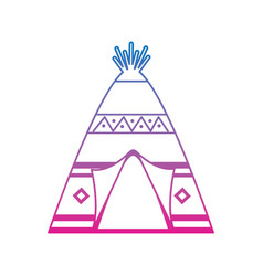 native american indian teepee home with tribal vector image vector image