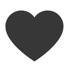 simple heart icon vector image