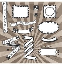 Vintage diy design elements drawing set of vector