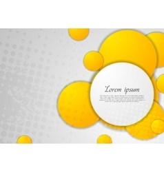 Abstract grey grunge background with orange vector image vector image
