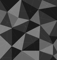 Dark grey polygon abstract triangle background vector image vector image