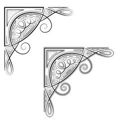 Decorative corner vector image