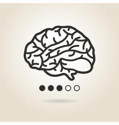 icon brain vector image vector image