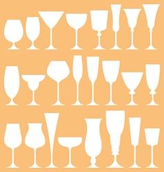 set of wine glass icon vector image